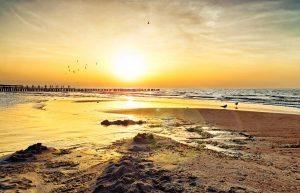 Binz Strand Sonnuntergang